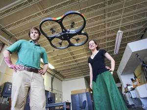 my labmate Jake and I with a quadcopter